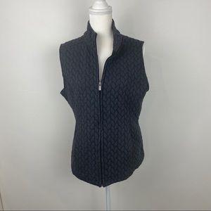 Croft & Barrow vest size Large color gray.